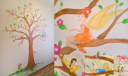 Decoracin creativa murales infantiles decoracin infantil - Mural pared infantil ...
