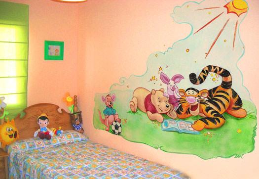 Murales infantiles mural winnie the pooh en habitaci n - Habitacion winnie the pooh ...