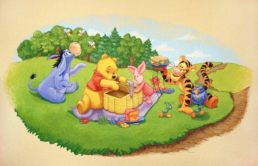 Murales infantiles mural de winnie the pooh en - Habitacion winnie the pooh ...