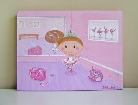 Pin cuadros infantiles cuadro para lorena tem tica - Cuadros bailarinas infantiles ...
