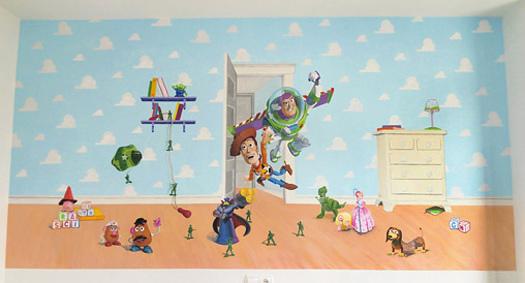 Mural Minnie. Habitación Celia.